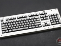 Max Keyboard Custom White Translucent Top with Custom Font Keycap Set