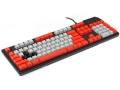 Max Keyboard Custom Mechanical Keyboard with grey / red color keycap / Front Side Printed and equipped with Cherry MX Brown Key Switches