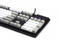 Max Keyboard Nighthawk Custom Mechanical Keyboard with white / grey color keycap / Front Side Printed and equipped with Cherry MX Brown Key Switches