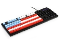 Max Keyboard Nighthawk Custom Mechanical Keyboard with America Theme Front Side Printed and equipped with Cherry MX Brown Key Switches