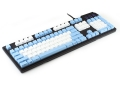 Max Keyboard Nighthawk Custom Mechanical Keyboard Blue with White Keycap, Front Side Printed and equipped with Cherry MX Brown Key Switches