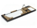 Max Keyboard Nighthawk Custom Mechanical Keyboard with brown / white color keycap / Front Side Printed and equipped with Cherry MX Brown Key Switches