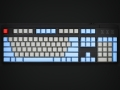 Max Keyboard Nighthawk Custom Mechanical Keyboard with grey / blue color keycap / Front Side Printed and equipped with Cherry MX Brown Key Switches