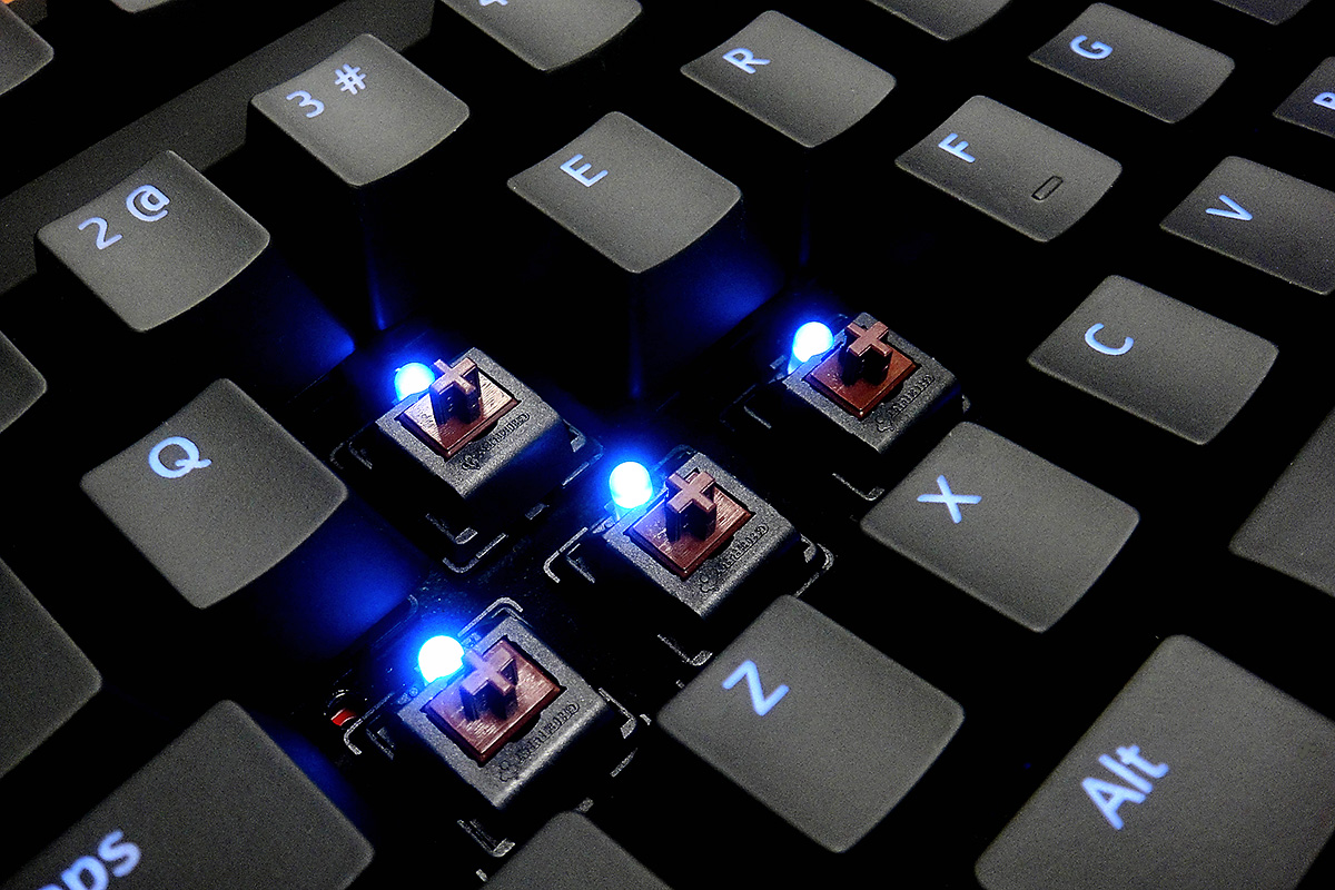 Max Keyboard Cherry MX Brown Blue LED