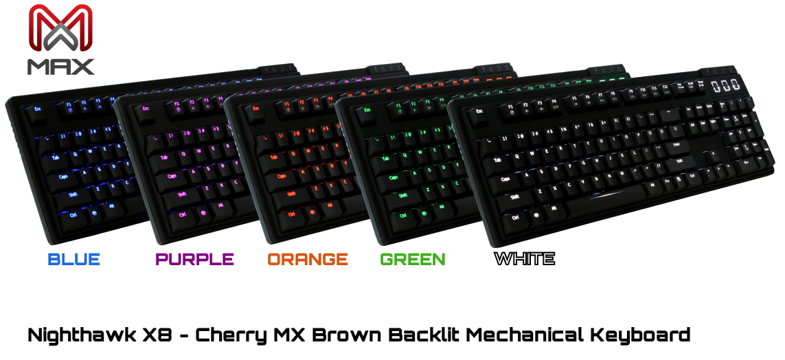 Max Keyboard Nighthawk New Color LEDs