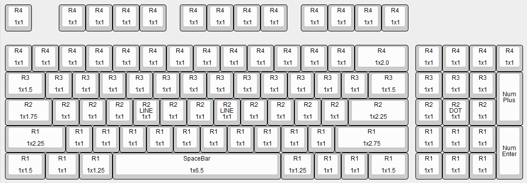 Cooler Master CM Storm QuickFire TK Backlit Mechanical Keyboard Key Cap Size Chart