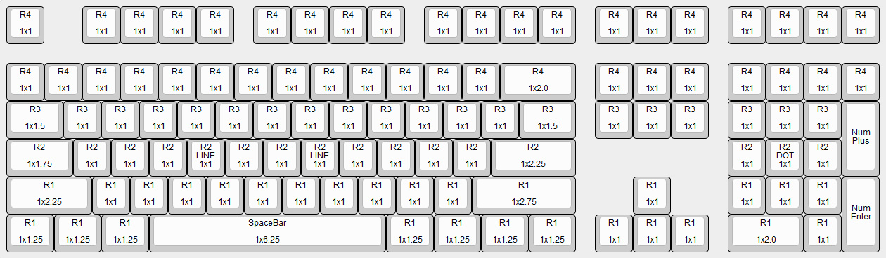 Ducky / Das / Deck / WASD Mechanical Keyboard Key Cap Size Chart