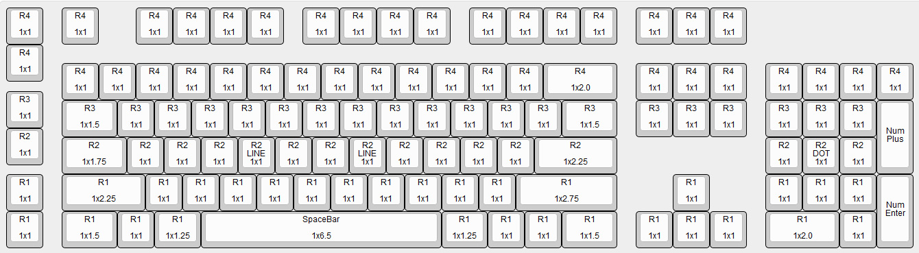 Logitech G710+ Mechanical Key Cap Size Chart