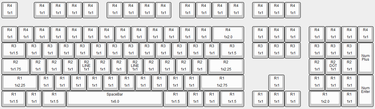Max Keyboard Nighthawk Mechanical Keyboard Key Cap Size Chart