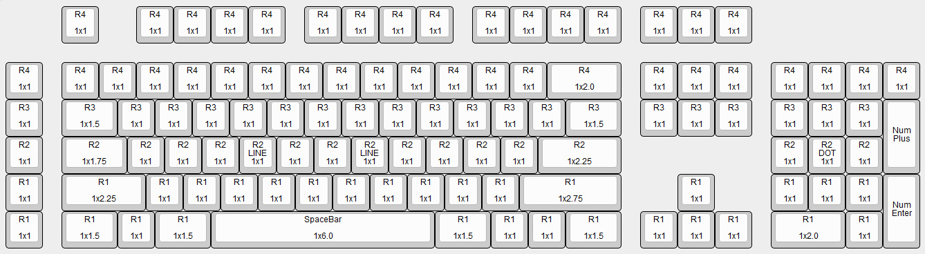 Razer Blackwidow Key Cap Size Chart