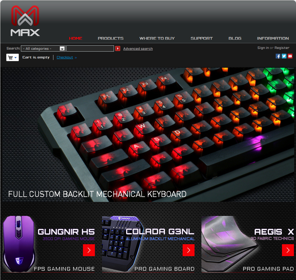 Max Keyboard 2012 New Website