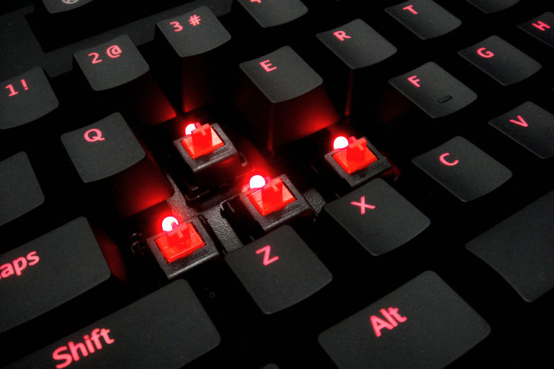 Max Keyboard Cherry MX Red switch Red lue LED